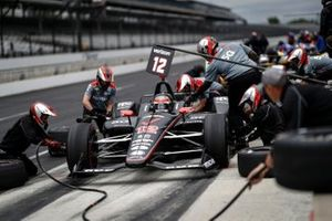 Will Power, Team Penske Chevrolet, au stand