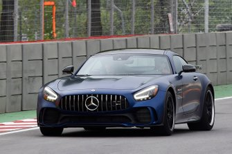 An AMG Mercedes Hot Laps car in action