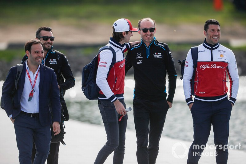 Antonio Giovinazzi, Alfa Romeo Racing e Robert Kubica, Williams Racing