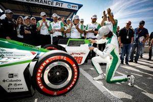 Polesitter Colton Herta, Harding Steinbrenner Racing Honda