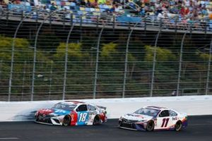 Kyle Busch, Joe Gibbs Racing, Toyota Camry M&M's Red, White & Blue Denny Hamlin, Joe Gibbs Racing, Toyota Camry FedEx Ground