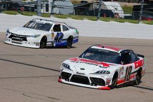 Harrison Burton, Joe Gibbs Racing, Toyota Supra Dex Imaging and Chad Finchum, Motorsports Business Management, Toyota Supra MBM Motorsports