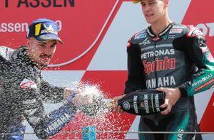 1. Maverick Vinales, Yamaha Factory Racing, 3. Fabio Quartararo, Petronas Yamaha SRT