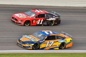 Ricky Stenhouse Jr., Roush Fenway Racing, Ford Mustang SunnyD and Daniel Suarez, Stewart-Haas Racing, Ford Mustang Haas Automation Demo Day
