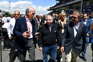 Jean Todt, President, FIA, on the grid with VIP guests