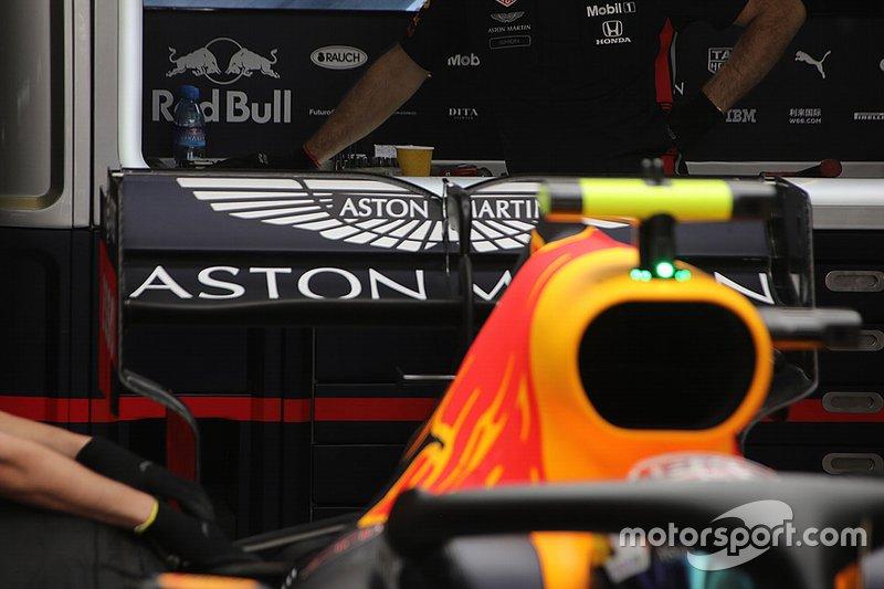 Detalle técnico del Red Bull Racing
