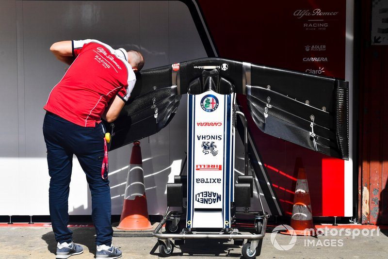 Alerón delantero del Alfa Romeo Racing C38