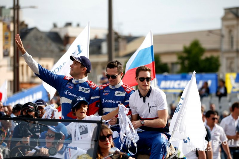 Vitaly Petrov, Mikhail Aleshin, en Stoffel Vandoorne
