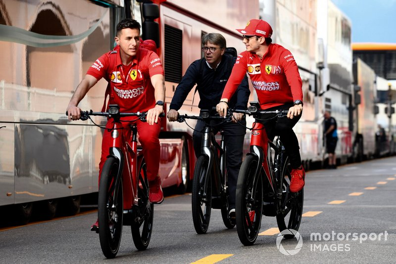Charles Leclerc, Ferrari sulla sua bici
