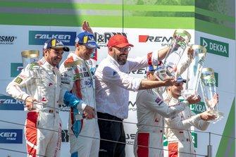 Podium: winners #4 Audi Sport Team Phoenix Audi R8 LMS: Pierre Kaffer, Frank Stippler, Frédéric Vervisch, Dries Vanthoor