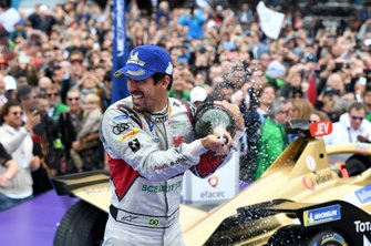 Lucas Di Grassi, Audi Sport ABT Schaeffler, 1st position, celebrates on the podium
