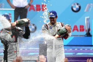 Lucas Di Grassi, Audi Sport ABT Schaeffler, 1st position, celebrates on the podium