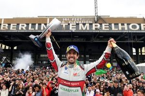 Lucas Di Grassi, Audi Sport ABT Schaeffler, 1st position, celebrates in front of the fans