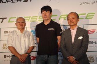 坂東正明GTA会長、武井真司CEO、山下晋モビリティランド社長