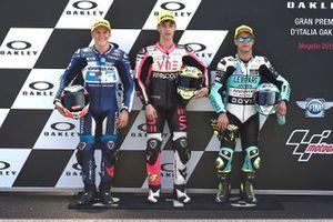 Pole sitter Tony Arbolino, Team O, second place Gabriel Rodrigo, Gresini Racing, third place Lorenzo Dalla Porta, Leopard Racing