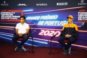 Carlos Sainz Jr., McLaren and Lando Norris, McLaren in the press conference