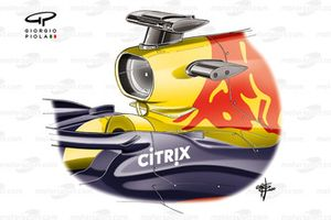 Red Bull RB16 halo fins