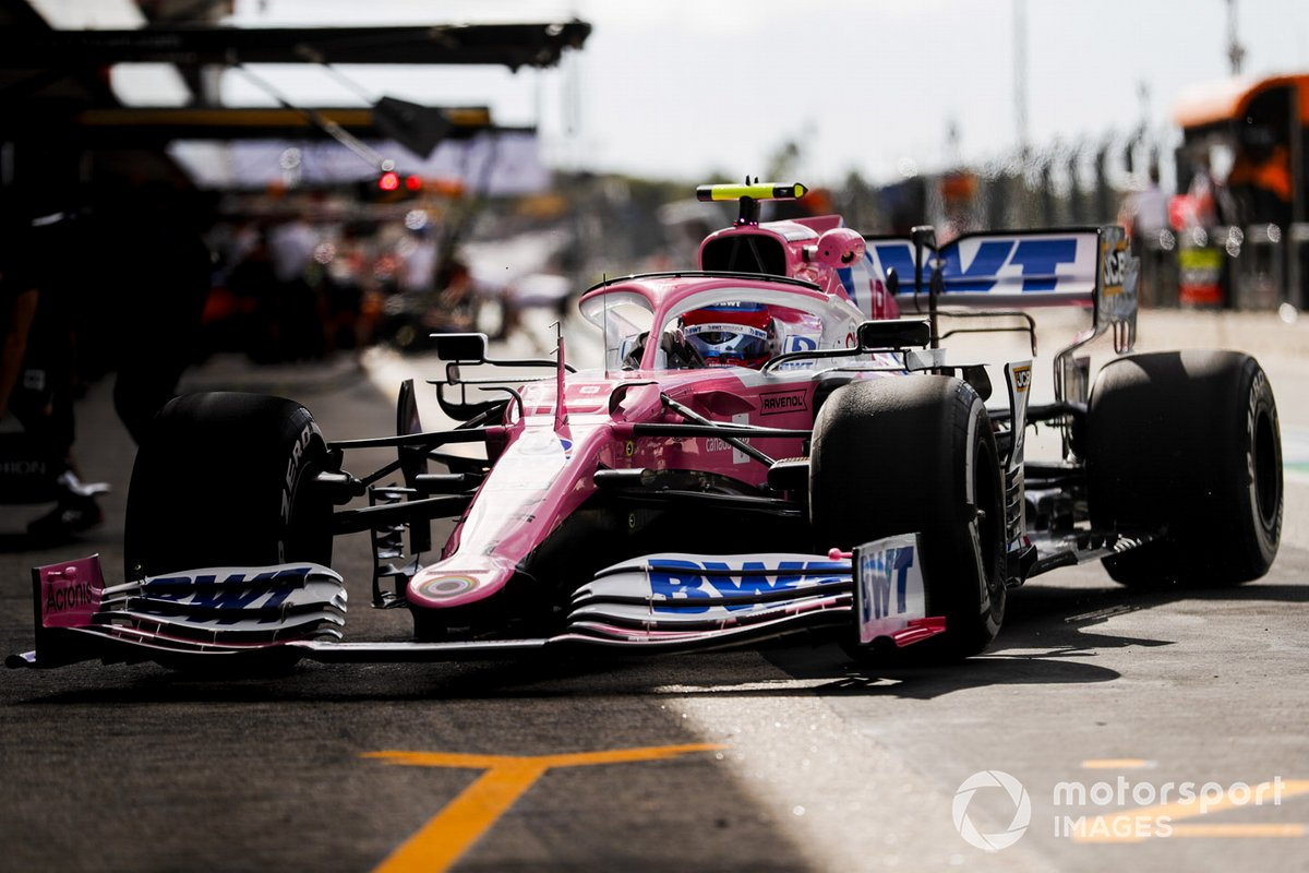 Lance Stroll, Racing Point RP20, in pit lane