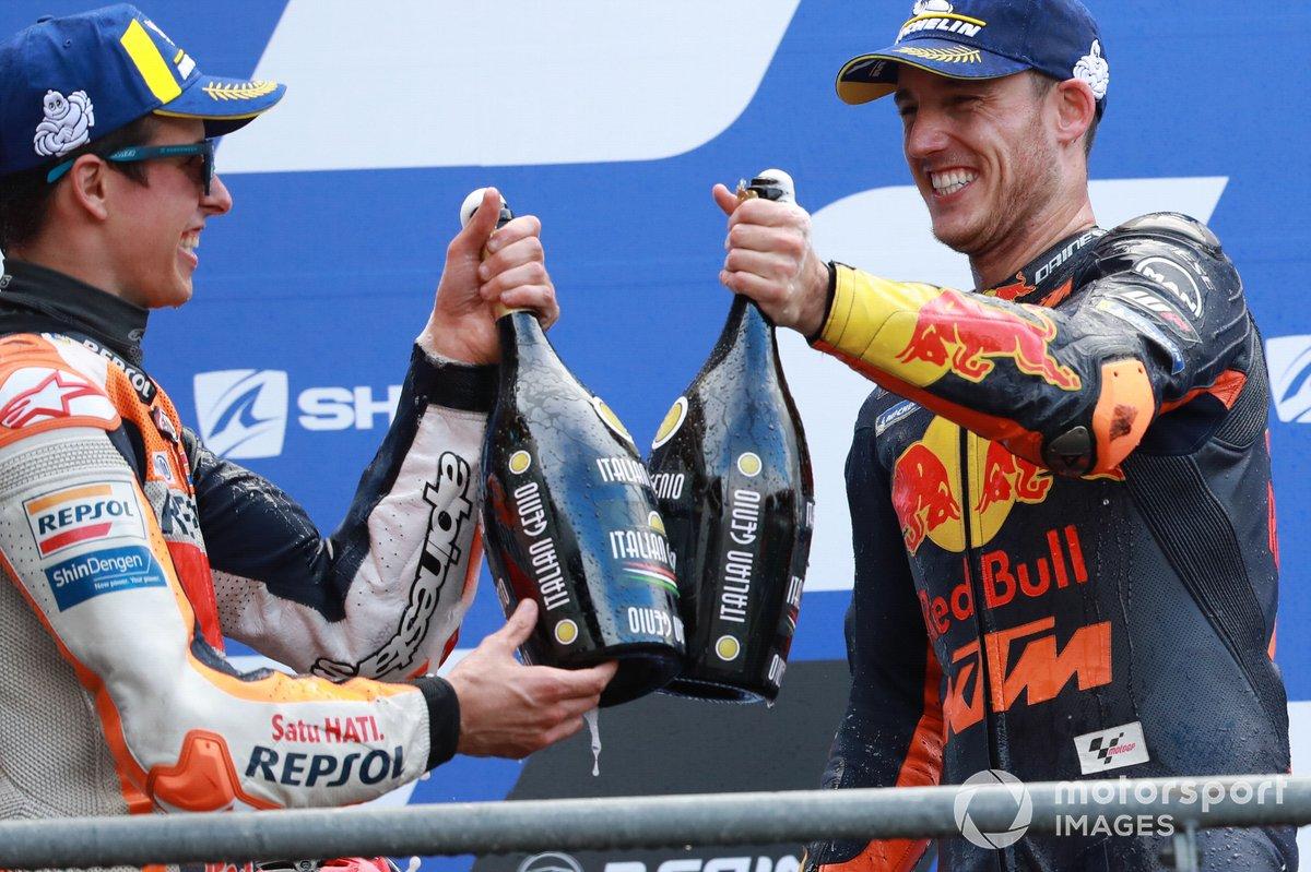 Podio: segundo lugar Alex Márquez, Repsol Honda Team y tercer lugar Pol Espargaró, Red Bull KTM Factory Racing