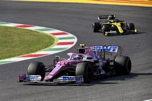Lance Stroll, Racing Point RP20, Daniel Ricciardo, Renault F1 Team R.S.20