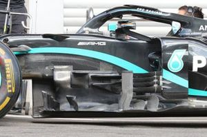 Mercedes F1 W11 bargeboard detail