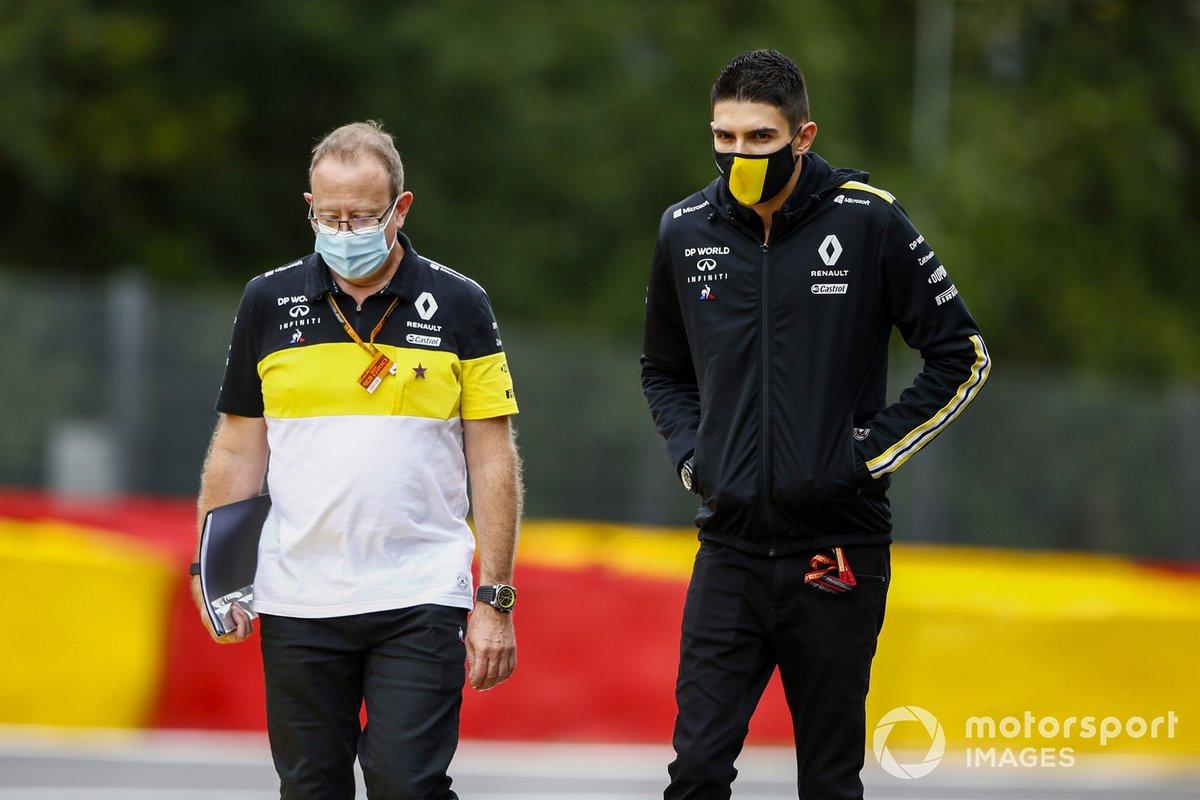Esteban Ocon, Renault F1, recorre la pista de Spa