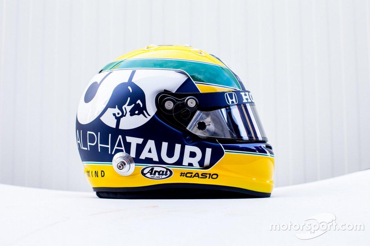 Helmet of Pierre Gasly, Alpha Tauri