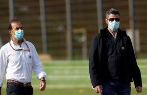 Emanuele Pirro, Commissaire Pilote, FIA, et Michael Masi, Directeur de Course, FIA.