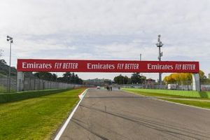 Sponsor signage over the circuit