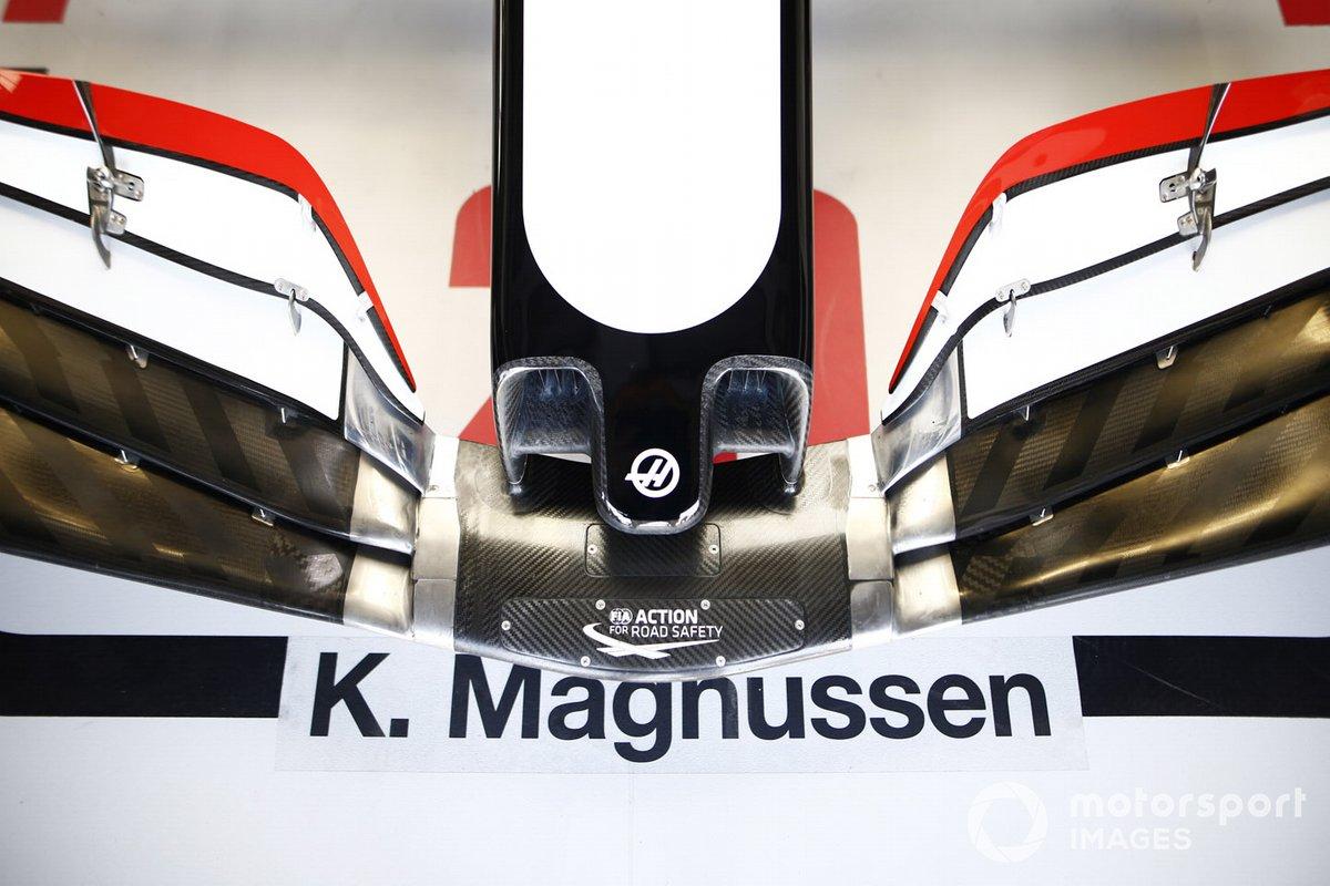 Frente del monoplaza de Kevin Magnussen, Haas VF-20