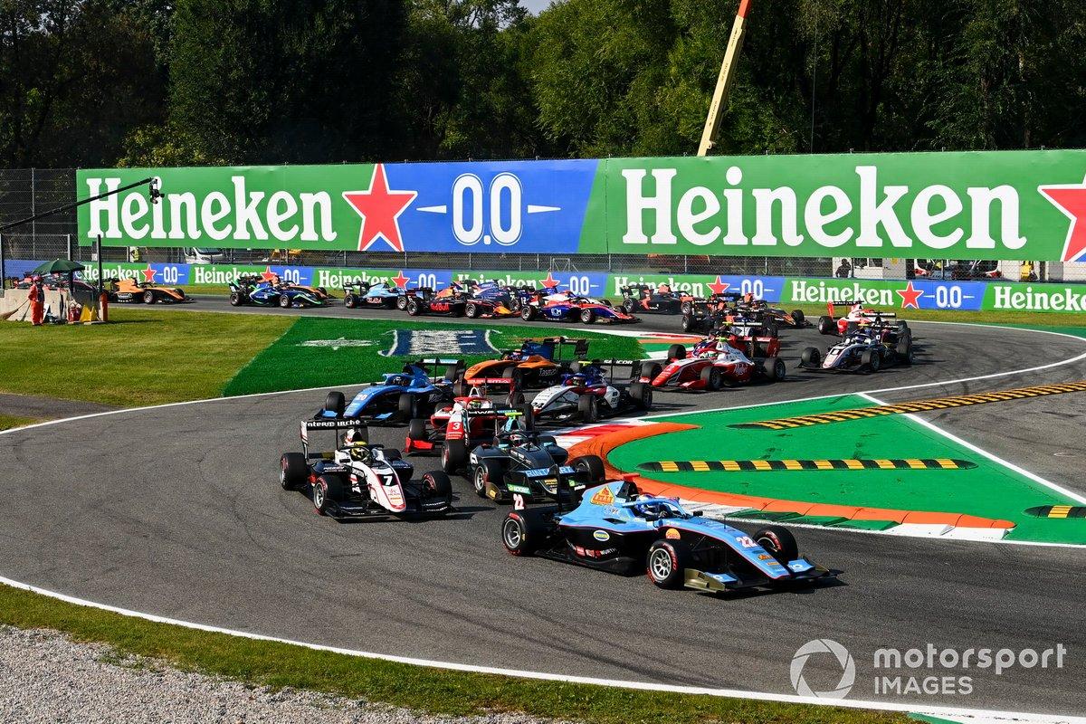 Matteo Nannini, Jenzer Motorsport, Theo Pourchaire, ART Grand Prix e Jake Hughes, HWA Racelab