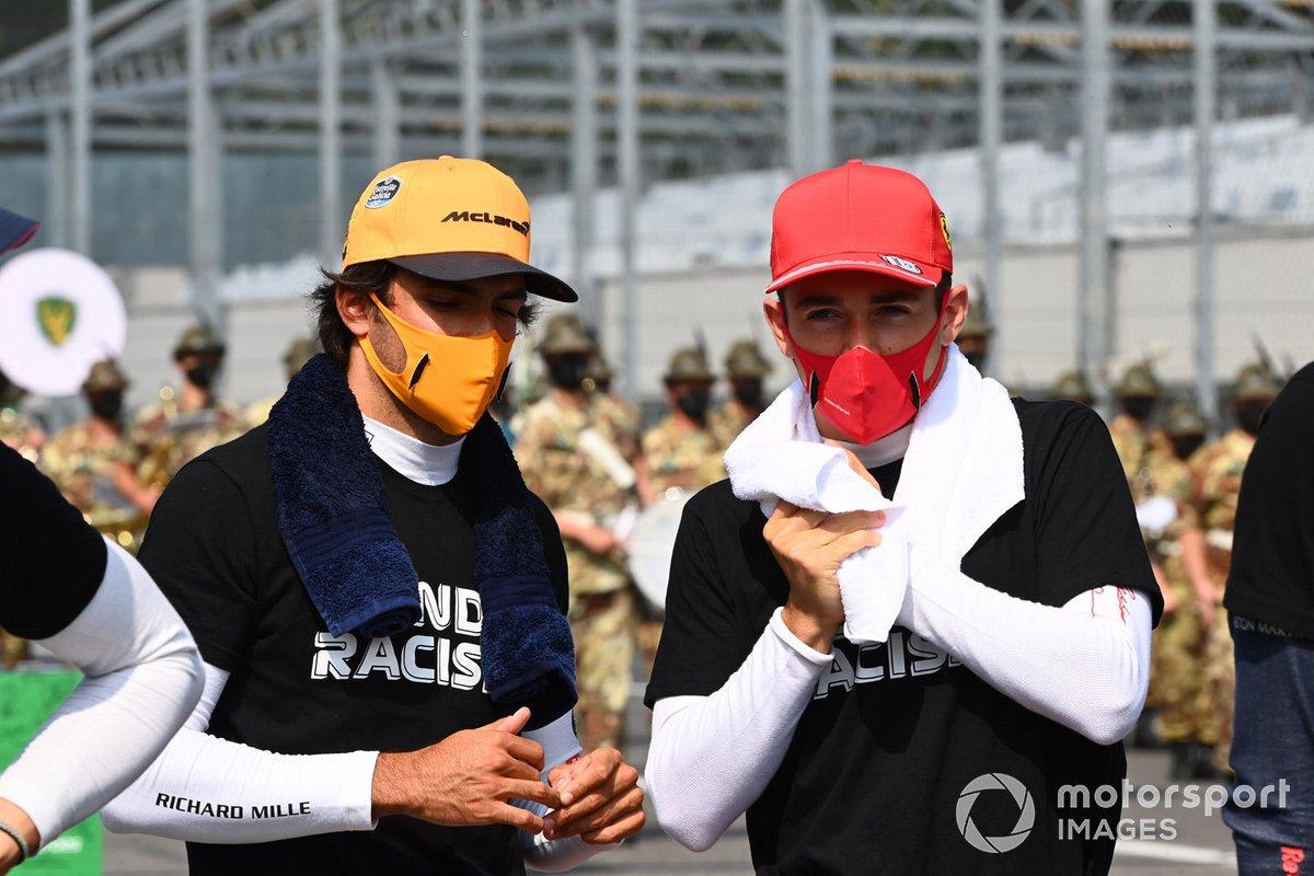 Carlos Sainz Jr., McLaren, Charles Leclerc, Ferrari