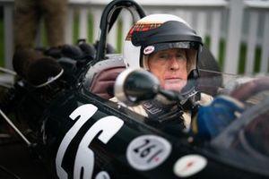 Sir Jackie Stewart in cockpit