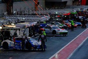#26 Sainteloc Racing Audi R8 LMS GT3: Gregory Paisse, Christophe Cresp, Pierre Yves Paque, Steven Palette, #12 GPX Racing Porsche 911 GT3-R: Matt Campbell, Patrick Pilet, Mathieu Jaminet