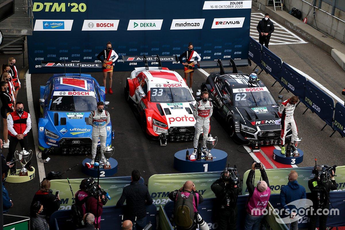 Audi schaffte die erfolgreiche Titelverteidigung in der DTM-Fahrerwertung zum vierten Mal - ebenfalls ein Rekord. Weitere neue DTM-Bestmarken für die Marke: zehn Siege in Folge, 20 Pole-Positions in Folge, elf schnellste Runden in Folge und 17 Pole-Positions in einer Saison.