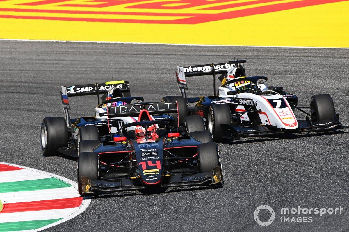 Enzo Fittipaldi, HWA Racelab precede Alexander Smolyar, ART Grand Prix e Theo Pourchaire, ART Grand Prix