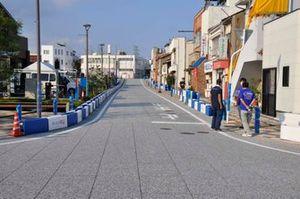 メインストレート|準備が進むA1市街地グランプリ GOTSU 2020のコース