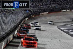 Justin Allgaier, JR Motorsports, Chevrolet Camaro BRANDT, Matt Mills, B.J. McLeod Motorsports, Chevrolet Camaro J.F. Electric