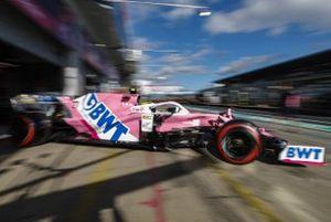 Nico Hulkenberg, Racing Point RP20, leaves the garage