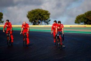 Charles Leclerc, Ferrari, cycles the track