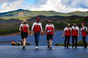 Antonio Giovinazzi, Alfa Romeo, walks the track
