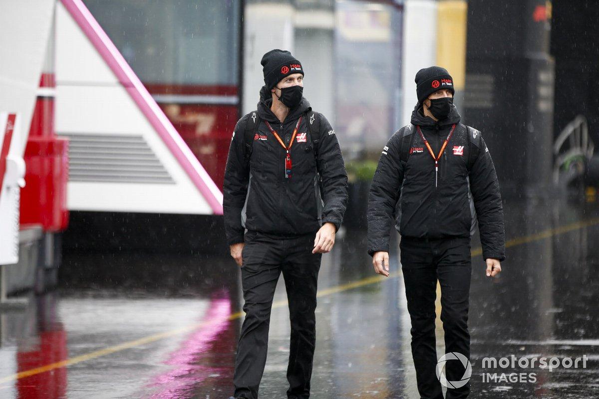 Romain Grosjean, Haas F1 y Kim Keedle, fisio de Romain Grosjean