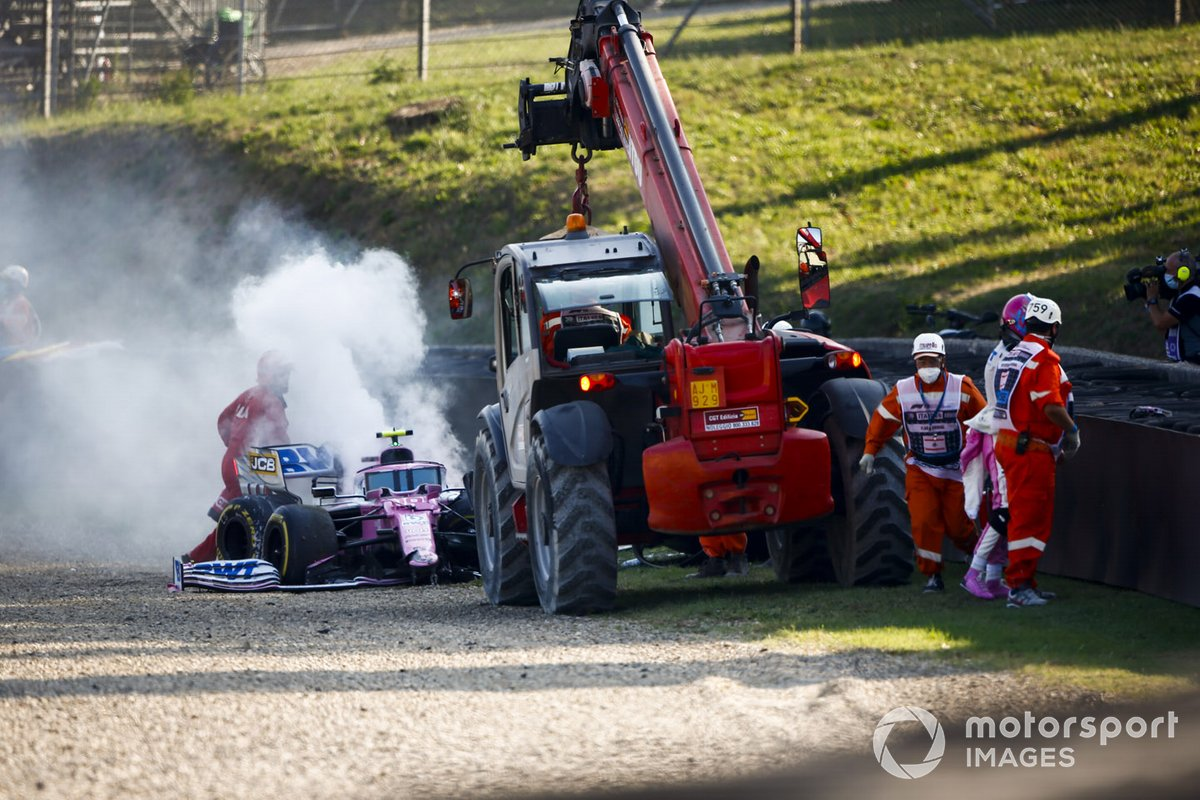 Lance Stroll, Racing Point RP20 dopo l'incidente