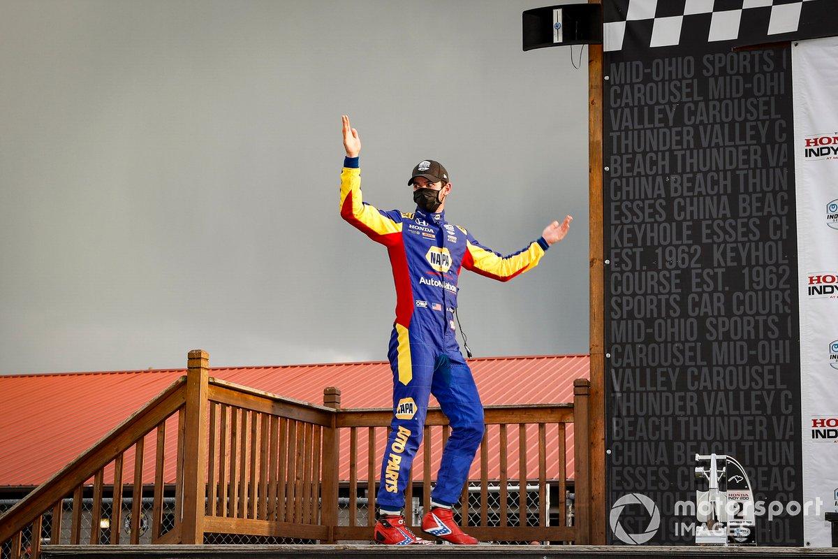 Podio: Alexander Rossi, Andretti Autosport Honda