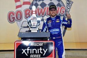 Race winner Justin Allgaier, JR Motorsports, Chevrolet Camaro