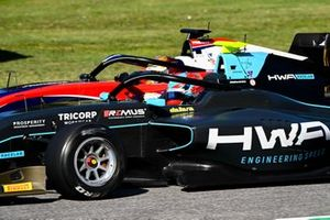 Lirim Zendeli, Trident and Jake Hughes, HWA Racelab battle