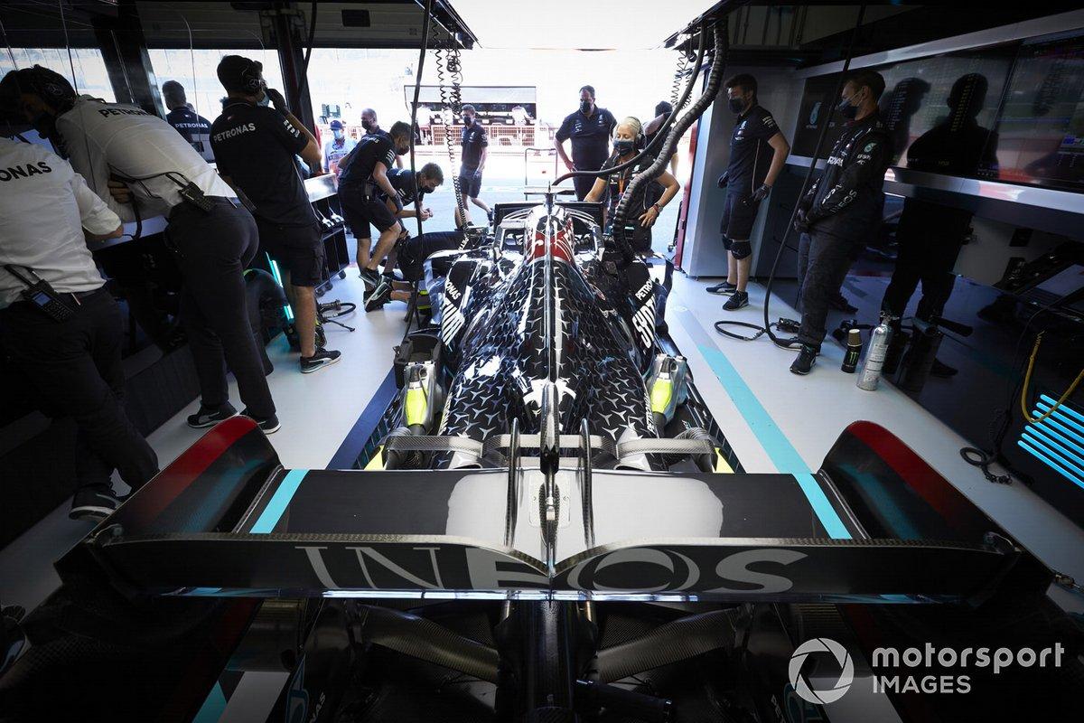 El monoplaza de Lewis Hamilton, Mercedes F1 W11