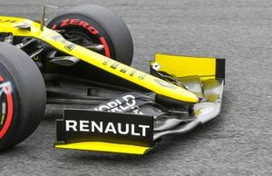 Front wing on the car of Daniel Ricciardo, Renault F1 Team R.S.20