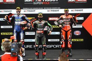 Loris Baz, Ten Kate Racing Yamaha, Jonathan Rea, Kawasaki Racing Team, Scott Redding, Aruba.it Racing Ducati during super pole