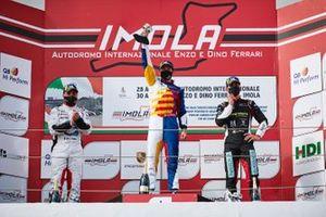 Podio: Simone Iaquinta, Ghinzani Arco Motorsport, David Fumanelli, Team Q8 Hi Perform, Stefano Monaco, Dinamic Motorsport